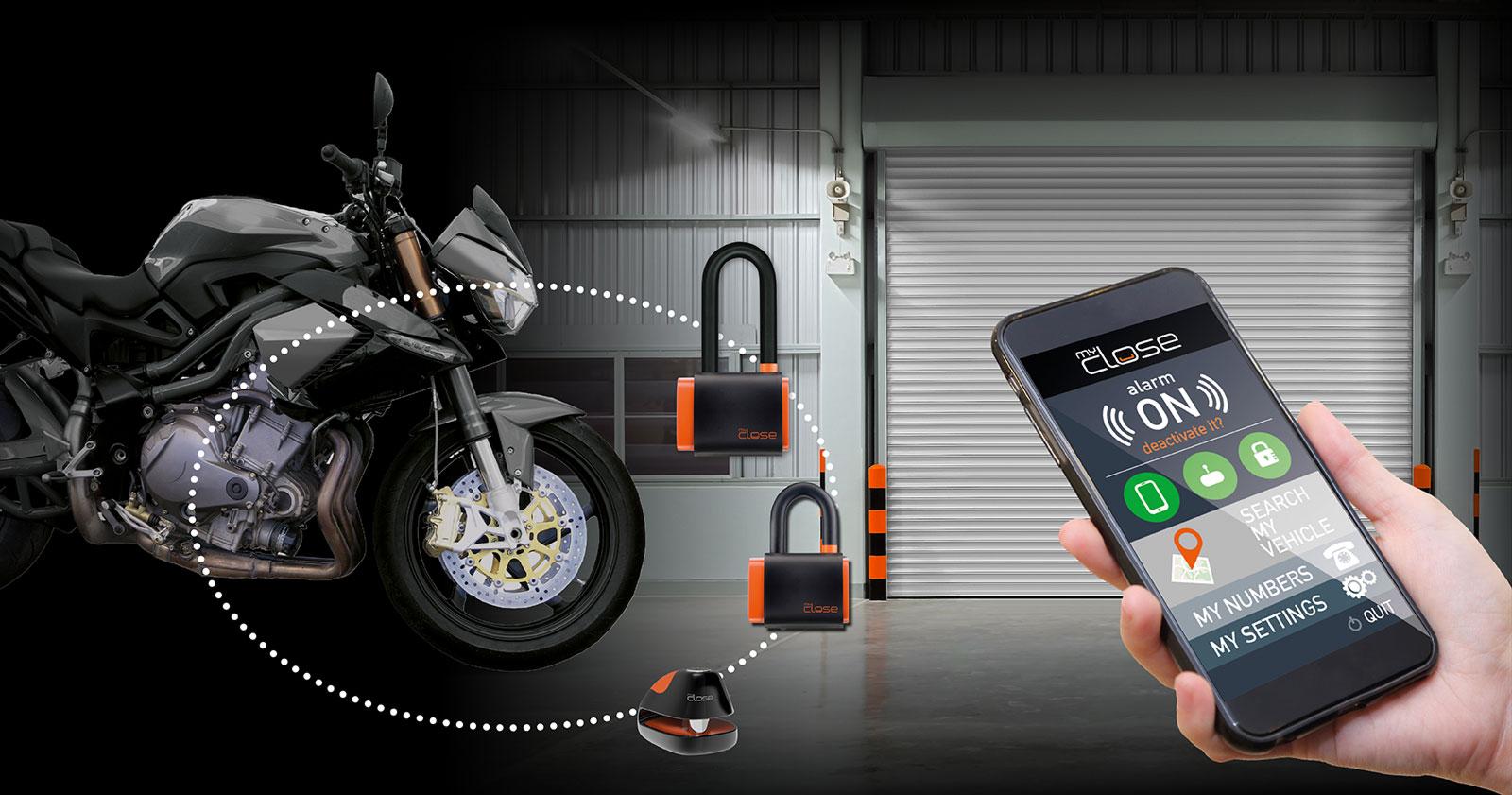 Myclose Smart Motorbike Locks And Motorbike Brake Disc
